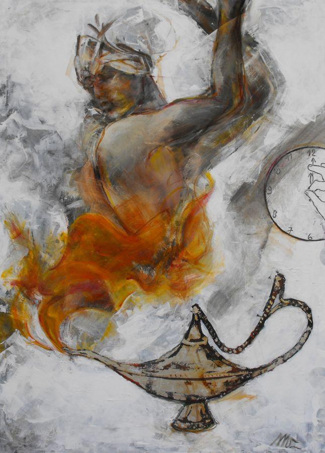 Aladino, l'ultimo desiderio  tecnica mista  100x70 2011