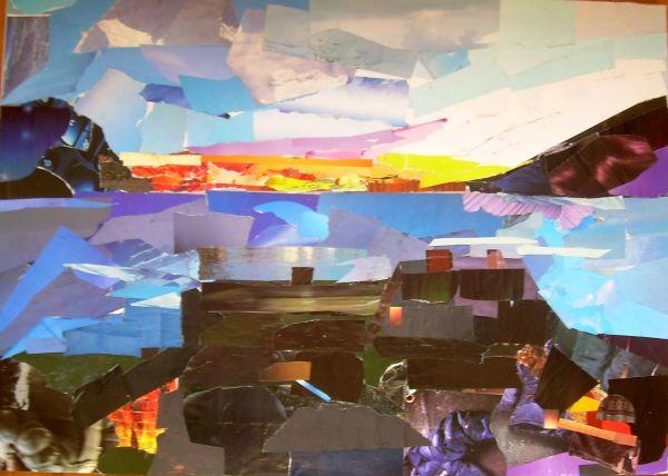 Chiavari dal balcone  collage  70x50  2014