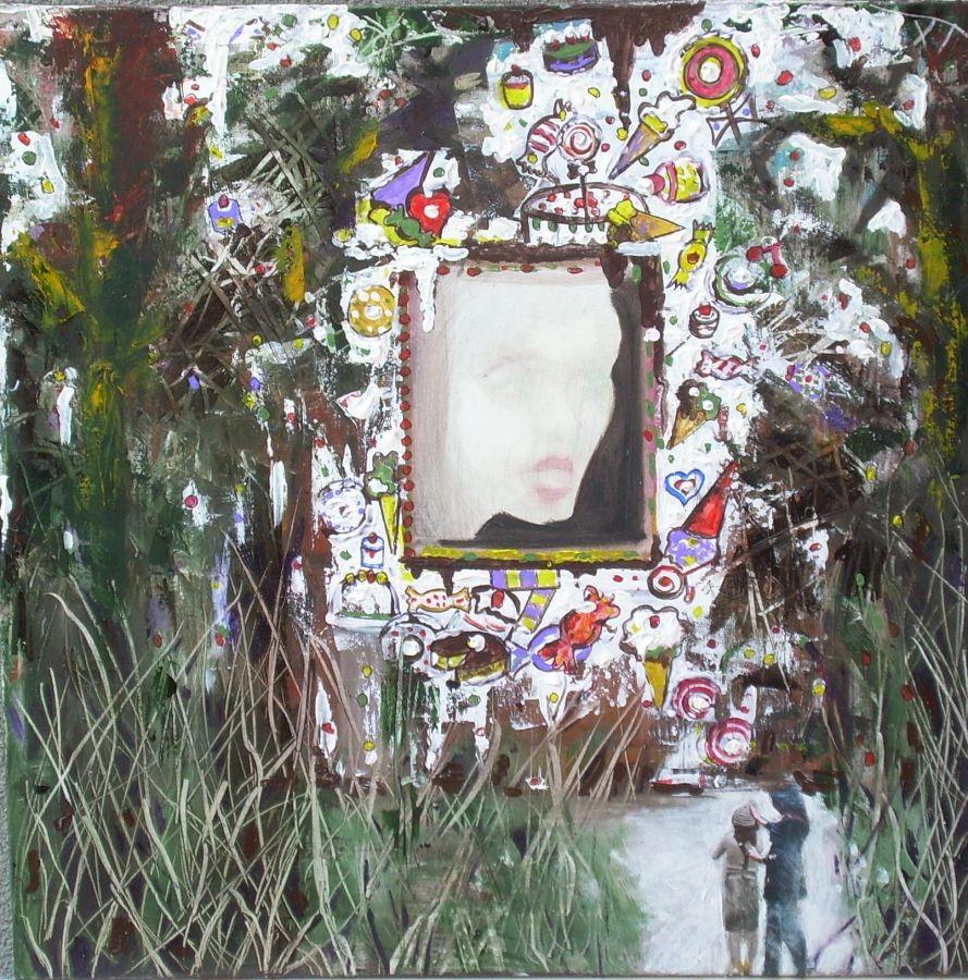 Hansel e Gretel  tecnica mista  40x40  2011