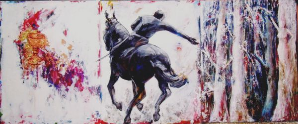 Parsifal   tecnica mista   100x240 (trittico)  2014