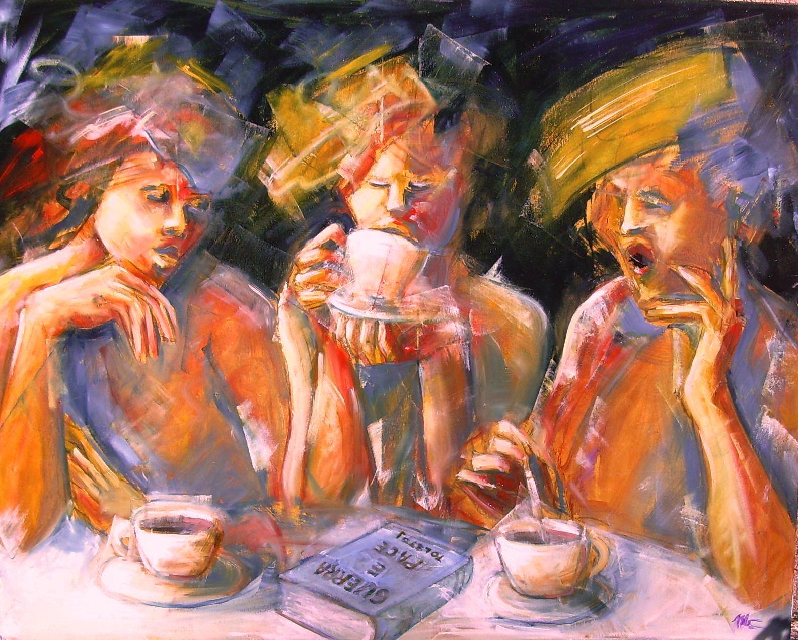 Galline...per un caffè   olio  80x100  2013